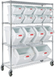 Rubbermaid ProSave Rack Cart for Shelf Ingredient Bins