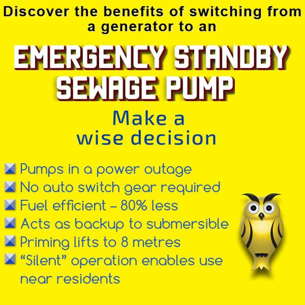 Benefits of switching from a generator to emergency standby pump