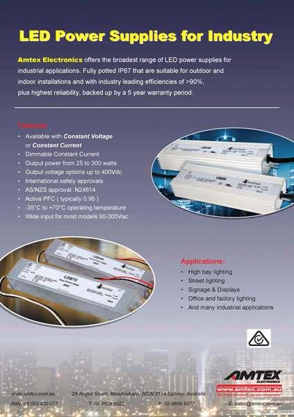 LED Power Supply Selection Catalogue - For LED Industry
