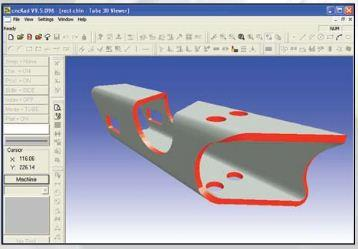 cncKad, integrated CAD/CAM for sheet metal manufacturers