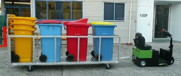 Wheelie bin trolleys can make waste management easier