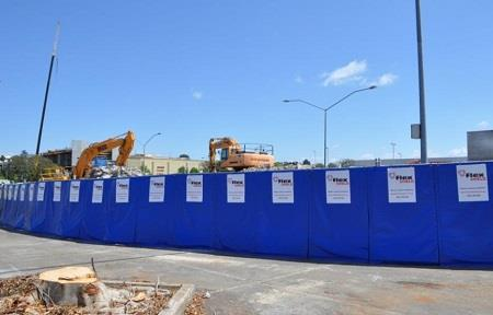 Temporary noise control for shopping centre redevelopment project