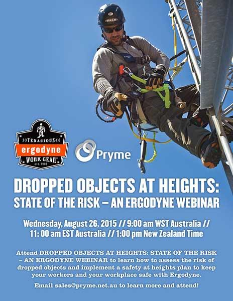 Dropped objects at heights: state of the risk-a free ergodyne webinar