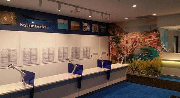 Blue Tint Plexiglass desk station dividers from Allplastics