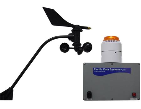 Wind Speed Alarm with Cup and Vane Anemometer